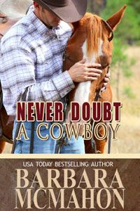 A beautiful book cover from my friend, Barbara's, cowboy romance book.