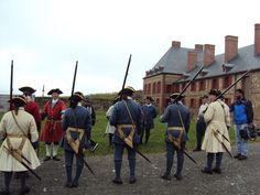 Chef Vicky Ratnani during the change of guard at the #Fortress of #Louisbourg National Historic Site