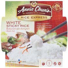 Annie Chun's Rice Express White Sticky Rice, 7.4 oz Asian Rice, Asian Restaurants, Grocery Items, White Rice, Stir Fry, Preserves, Annie, Grains, Gluten Free