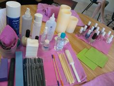 nail set up on location