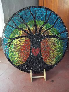 "Mosaic tree by Craft at Fourways ""One of a Kind"" artist Margie Gray"