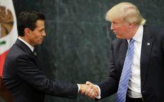 U.S. Republican presidential nominee Donald Trump and Mexico's President Enrique…