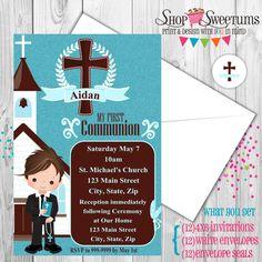Invitaciones de fiesta de primera comunión niño