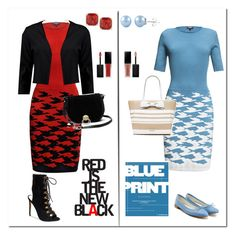 """Red vs. Blue"" by prettypicture99 ❤ liked on Polyvore featuring Rumour London, Kate Spade, Diane Von Furstenberg, Boohoo, Repetto, Steve Madden and Smashbox"
