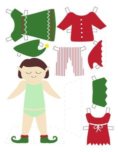 printable christmas paper dolls by subjects chosen at random paper