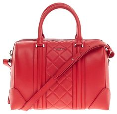 Givenchy Lucrezia Duffle Quilted Leather Medium Red Satchel. Save 25% on  the Givenchy Lucrezia 9c07954b3790b