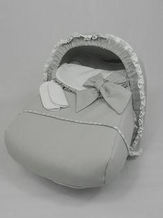 b e b e t e c a: GRUPO 0 CONCORD NEO ELEGANTE Saco, capota y protectores de cintos en piqué blanco y gris. bebetecavigo