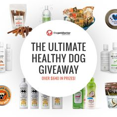 The Ultimate Healthy Dog Giveaway (Over $640 in prizes!) http://swee.ps/UUyDaFyQl 4-17-17