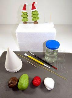 weihnachten fondant cupcake ausstecher weihnachtsbaum. Black Bedroom Furniture Sets. Home Design Ideas