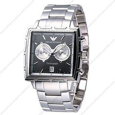 Emporio Armani AR0591 - Mens Grey Chronograph Sports Watch