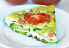 Frittata Recipe with Tomato and Zucchini. Ready in under 30 minutes and under 200 calories per serving. Loaded with flavor. - Foodie and Wine