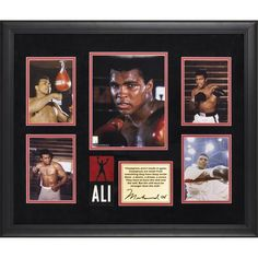 Muhammad Ali Fanatics Authentic Framed 5-Photograph Champions Presentation-Limited Edition of 500 - $99.99