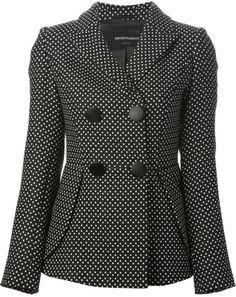 Love this: Polka Dot Jacquard Jacket @Lyst