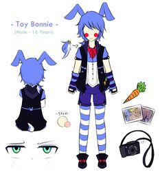 Toy Bonnie the tourist Emma Fox, Fnaf Drawings, Sister Location, Five Nights At Freddy's, Hunter X Hunter, Cute Bunny, Video Games, Fanart, Toy