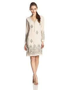 Yoana Baraschi Women's Marrakesh Beaded Tunic Dress Marble/Silver NWTS SZ 4 $509 #YoanaBaraschiBlue #Tunic
