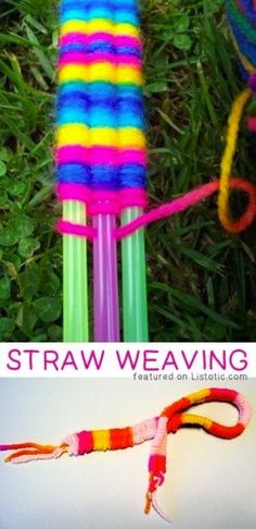 Straw Weaving -- 29 creative activities for kids that adults will actually enjoy doing, too! by patty