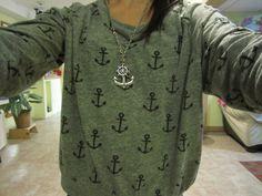 anchor shirt & anchor necklace