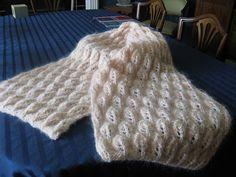 Falling Leaves Mohair-Silk Scarf pattern by Hélène Rush Knitting Ideas, Knitting Projects, Knit Scarves, Yarn Bombing, Falling Leaves, Autumn Leaves, Fiber Art, Crocheting, Needlework