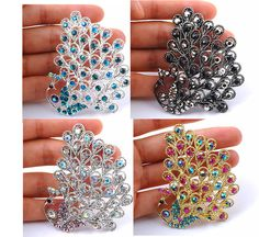 1p delicate rhinestone crystal elegant Peacock high quality brooch pin