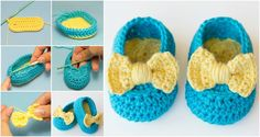 Crochet Lemon Drop Booties