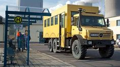Unimog school bus... never have a good excuse for missing class again