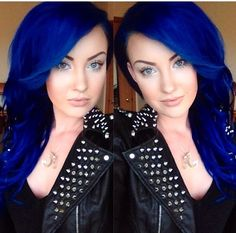 This girls hair is making me miss my blue! Once I get sick of my purple hair I think i'll go back.
