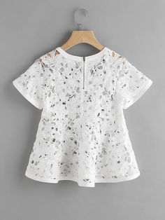 Shop Zip Back Floral Crochet Trapeze Top online. SheIn offers Zip Back Floral Crochet Trapeze Top & more to fit your fashionable needs.