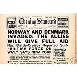 NORWAY DENMARK GERMAN INVASION NEWSPAPER April 9th 1940