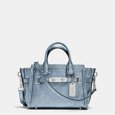 COACH - COACH SWAGGER 20 CARRYALL IN METALLIC TIPPED PEBBLE LEATHER | International