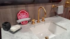 KBIS 2015 | Best of KBIS Bath Silver Award  #KBIS #MichaelBerman #Gold #Luxury #Faucets #Bathroomdesign #Marble #aesthetic