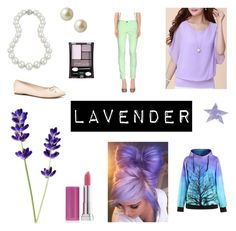 """Lavender"" by allisonwonderland13 ❤ liked on Polyvore featuring S.O.S By Orza Studio, Bling Jewelry, Carolee, Maybelline, Forever 21, SpaRitual, purple and lavender"