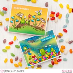 Lawn Fawn Beam Me Up Cards | Pink and Papershop | Mona Toth | Cardmaking and Scrapbooking