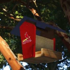 St. Louis Cardinals Wooden Bird Feeder Kit