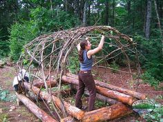 The Jack Mountain Bushcraft Blog - Bushcraft Shelter Photo Gallery
