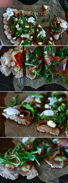 Caramelized Fennel and Onion Flatbread Pizzas