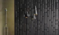 black wall tiles - Google Search
