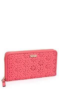 kate spade new york 'cedar street - perforated lacey' zip around wallet available at #Nordstrom