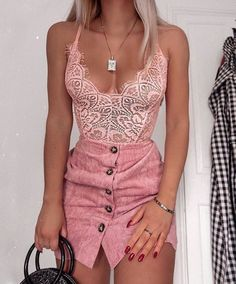 52 Teenager Outfits To Copy Right Now - Page 4 of 5 - Stylish Bunny Pink Outfits, Hot Outfits, Night Outfits, Classy Outfits, Skirt Outfits, Trendy Outfits, Fashion Outfits, Womens Fashion, Fashion Trends