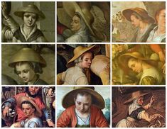 'Straw Hats' - by Joachim Beuckelaer | Hair Styles Antwerpen 1550 to 1570 |Antwerpen Dress Research on MorganDonner.com