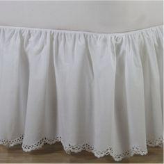 Crochet Edge Scalloped Cotton Bed Skirt   ShopBedding.com