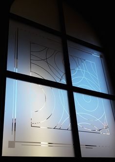 Job of the week: insulated glass windows add decorative touch Frosting, Blinds, House Design, Windows, Curtains, Glass, Home Decor, House Blinds, Homemade Home Decor