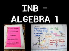 a pinterest board full of algebra 1 interactive notebook ideas