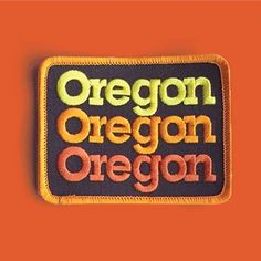 "DDC-131 ""Oregon Stack"" Embroidered Patch @draplin #Oregon #Patch Draplin Design, Hat Patches, Indian Crafts, Badge Logo, Vintage Patches, Patch Design, Badge Design, Cool Stickers, Retro"