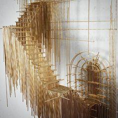 David Moreno Sculpts 3D Wire Models of Architectural Masterpieces