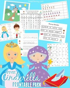 The kids are going to love this Free Cinderella PreK-K Printable Pack with activities and worksheets to make learning fun... just in time for the new Cinderella movie!