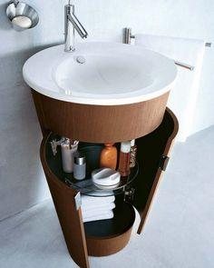 Lavabo sospeso - Un lavabo sospeso aiuterà a risparmiare spazio