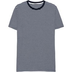CROSSLEY Stripe Short Blue White // Striped T-shirt (9700 RSD) ❤ liked on Polyvore featuring men's fashion, men's clothing, men's shirts, men's t-shirts, mens cotton t shirts, mens striped shirt, mens striped t shirt, mens short shirts and mens blue and white striped shirt