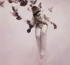 Jeremy Geddes' White Cosmonaut - My favorite piece from him. I was his 5th customer to buy one before he became uber popular and impossible to get work from.