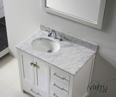 marble top bathroom vanity - Google Search