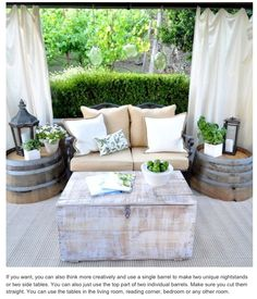 Cute back deck seating